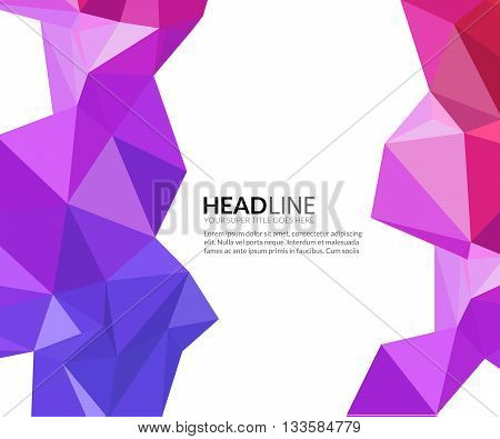 Abstract vector faceted polygonal triangle modern background.