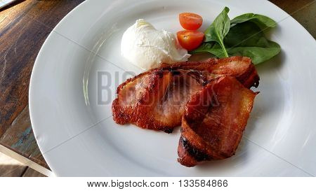 Bacon with Poached Egg