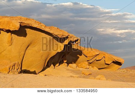 Granite rock formations north of the welwitschia plains namibia