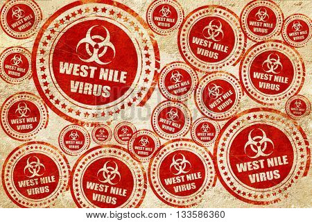 West nile virus concept background, red stamp on a grunge paper