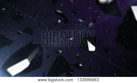 Black Stones Falling Down