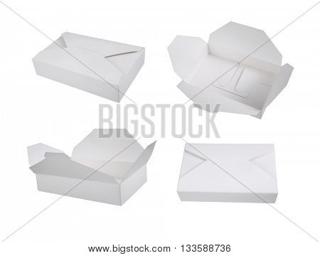 Brown paper box isolate on white background