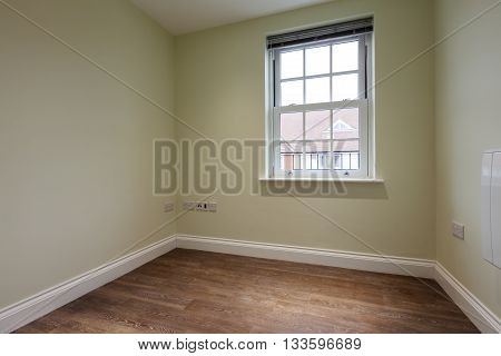 Apartment study/office with georgian style window as yet unoccupied