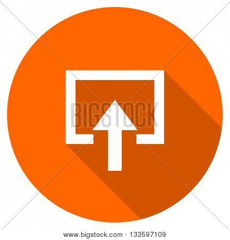 enter vector icon, circle flat design internet button, web and mobile app illustration