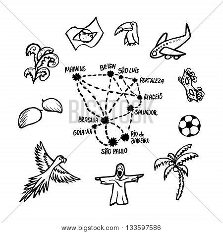 Some Brazilian Symbols And Cities