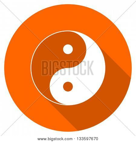 ying yang vector icon, circle flat design internet button, web and mobile app illustration