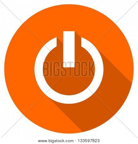 power vector icon, circle flat design internet button, web and mobile app illustration