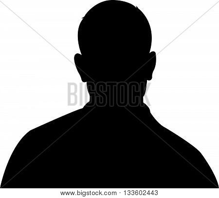 a man head biacl color silhouette vector