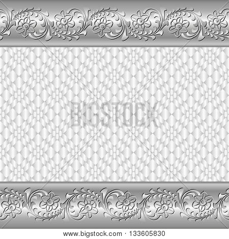 decorative background with floral ornament - vector illustration