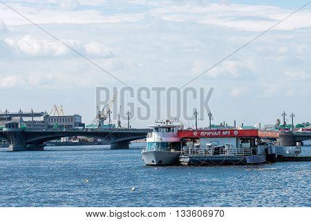 Jetty Near Blagoveshchensky Bridge