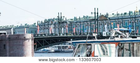 Palace Bridge And Embankment