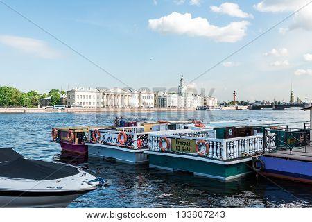 Boat On Neva River