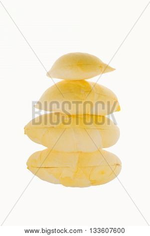 Durian King of Fruits isolated on white background with clipping path