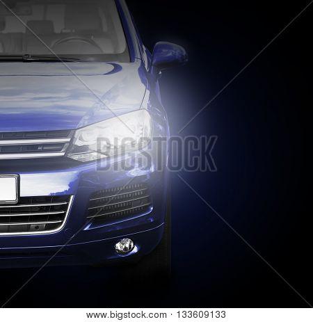 Car on dark background