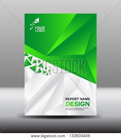 Green Cover design and Cover Annual report vector illustration poster flyer vector