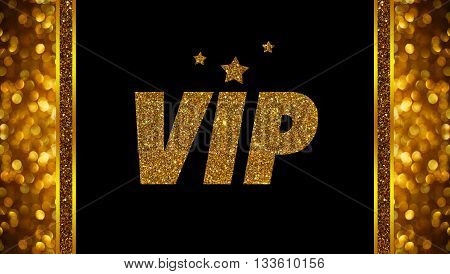VIP word on rose gold bokeh abstract background