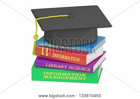 Information Management Education 3D rendering isolated on white background