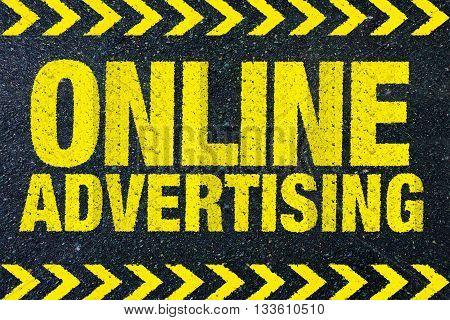 online advertising yellow word - on street