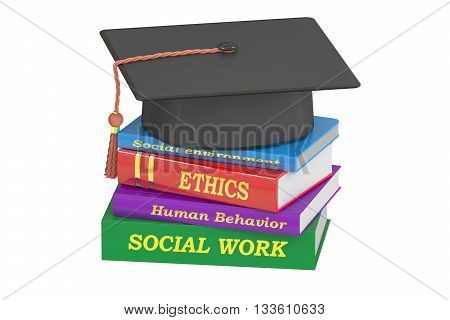 Social work education 3D rendering isolated on white background