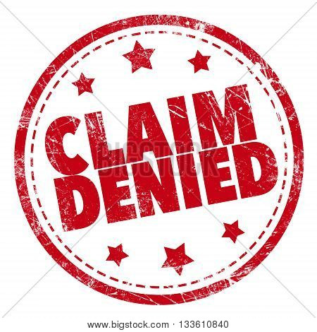Grunge rubber stamp with text - Claim Denied