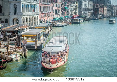 Venice Italy - Jun 11 2014: Venice A City In Northeastern Italy. It Is Famous For The Beauty Of Its