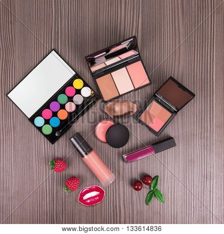 summer cosmetics set for make-up