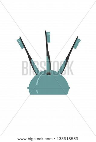 Toothbrush holder isolated on background . Vector illustration.