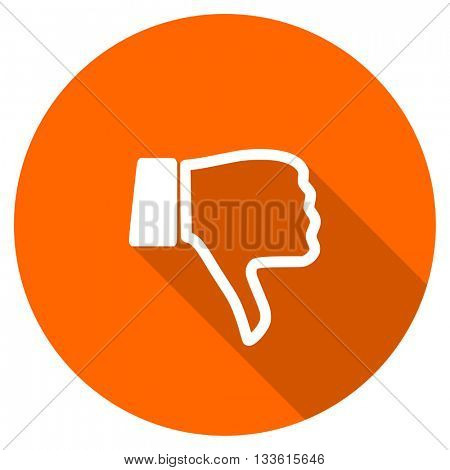 dislike vector icon, circle flat design internet button, web and mobile app illustration