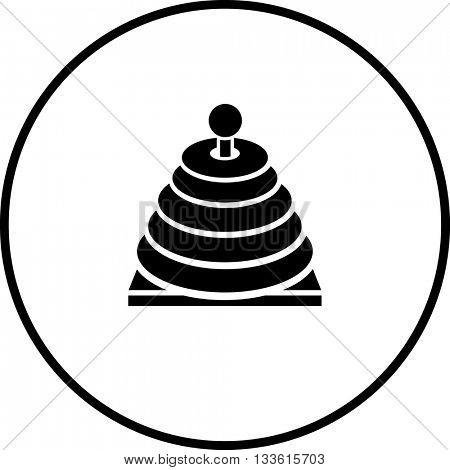 stacking rings toy symbol