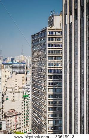Sao Paulo, Brazil, August 08, 2011: Aerial View Of Downtown Sao Paulo