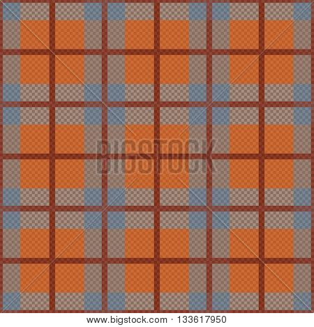 Seamless Rhombic Pattern In Grey And Orange