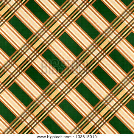 Seamless Diagonal Pattern In Orange And Green