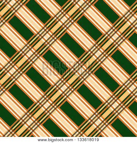 Seamless Diagonal Pattern In Orange And Green