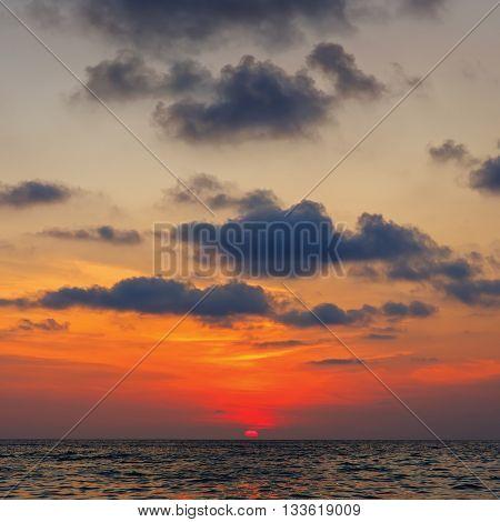 Beautiful water when sunset. Andaman sea.