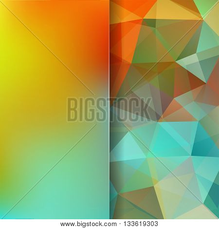 Abstract Geometric Style Colorful Background. Colorful Business Background Blur Background With Glas