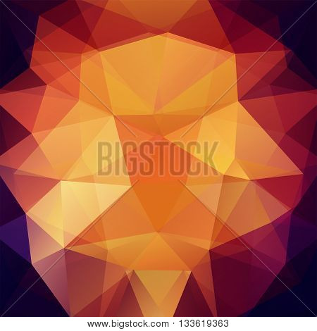 Background Made Of Triangles. Square Composition With Geometric Shapes. Eps 10 Yellow, Orange, Brown