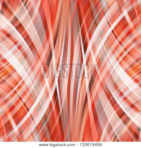 Smooth Light Lines Background.  Vector Illustration. Red, White, Brown Colors.