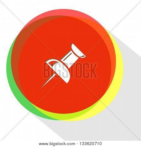 push pin. Internet template. Vector icon.