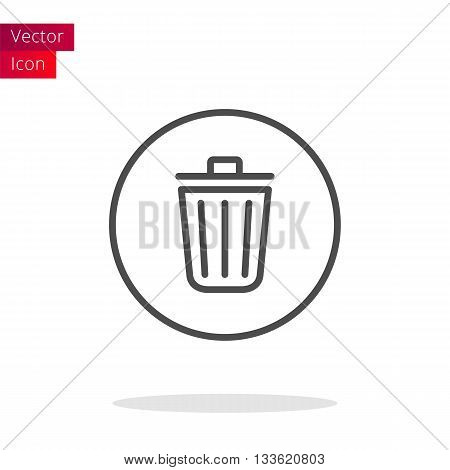 Trash Thin Line Icon. Trash Bin Vector illustration