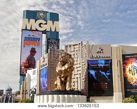 MGM casino, and Grand hotel. Las Vegas, Nevada, USA. May 8, 2016