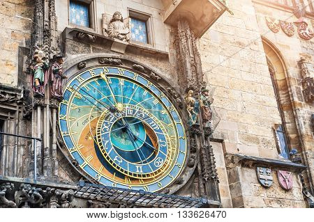 Historical Medieval Astronomical Clock In Prague