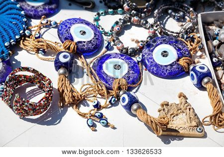 Evil Eye Amulet In The Shop