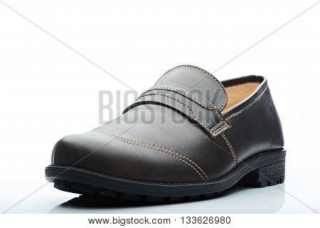 Dark Leather Casual Men Shoe