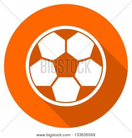 soccer vector icon, circle flat design internet button, web and mobile app illustration