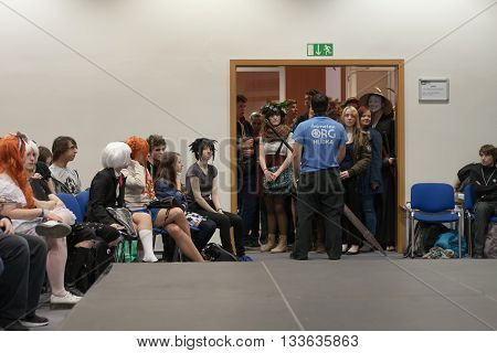 Young People Waiting To Opening Workshop At Animefest 2016