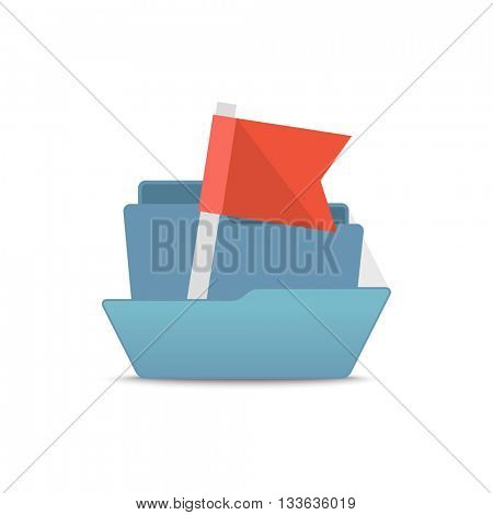 Computer interface folder vector illustration. Open folder isolated on white