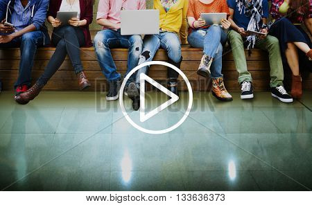Play Media Audio Video Music Concept
