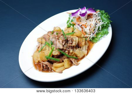 Fry Pork With Pineapple