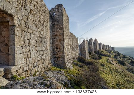 Castle of Gormaz in Soria Spain. Burgo de Osma Walls
