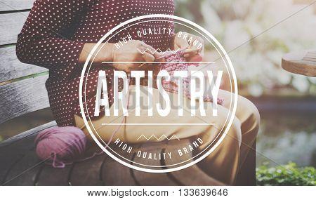 Art Artist Craft Creation Gallery Exhibition Style Concept